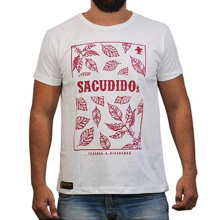 Camiseta Sacudido´s Folhas Café - Bege