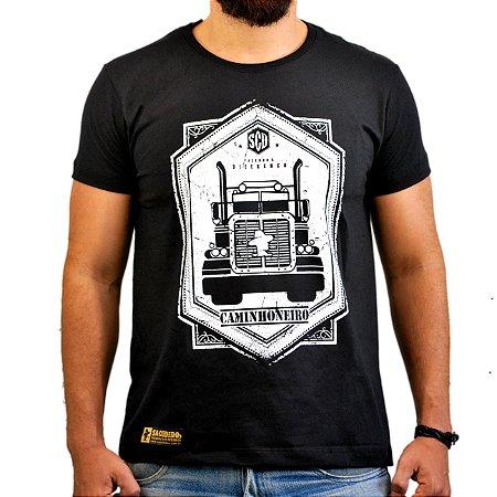 Camiseta Sacudido's Preto Caminhoneiro - Preto