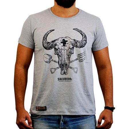 Camiseta Sacudido's - Gadanho Nova - Cinza Mescla