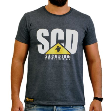 Camiseta Sacudido's - SCD TRATOR - Preto Mescla