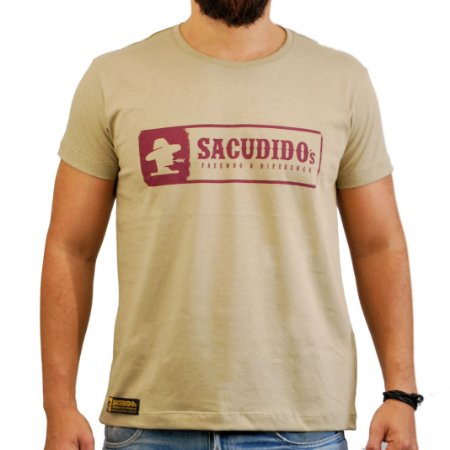 Camiseta Sacudido's - Logo Etiqueta - Charuto Mesc
