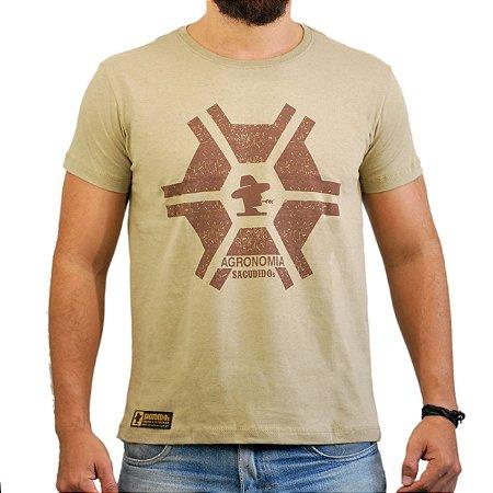 Camiseta Sacudido's - Agronomia - Charuto Silk Café
