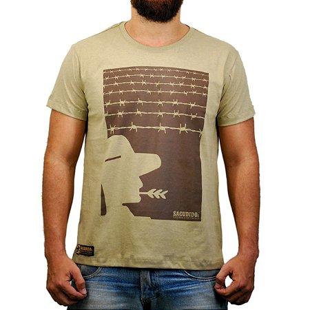 Camiseta Sacudido's - Arame - Charuto Mescla