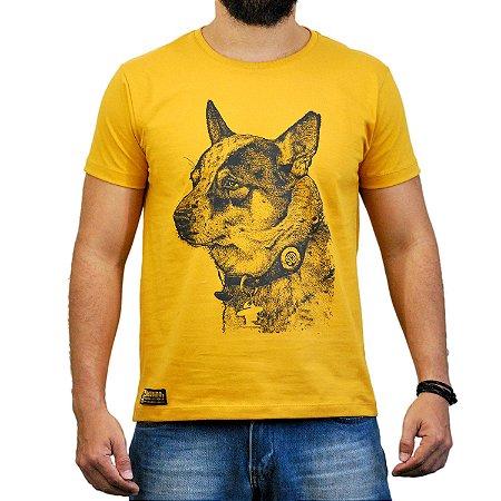 Camiseta Sacudido's - Boiadeiro Australiano - Mostarda