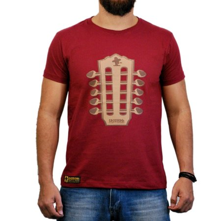 Camiseta Sacudido's Viola Caipira - Vinho