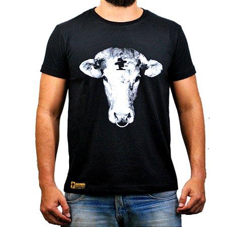 Camiseta Sacudido's Bezerro - Preta