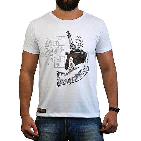 Camiseta Sacudido's Chimarrão - Branca