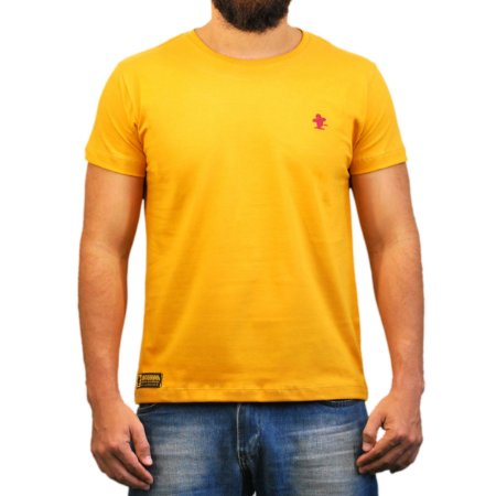 Camiseta Sacudido's Básica - Amarelo Mostarda