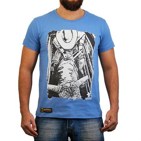 Camiseta Sacudido's - Peão Montado Brete - Azul