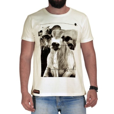 Camiseta Sacudido's Nelore - Off White