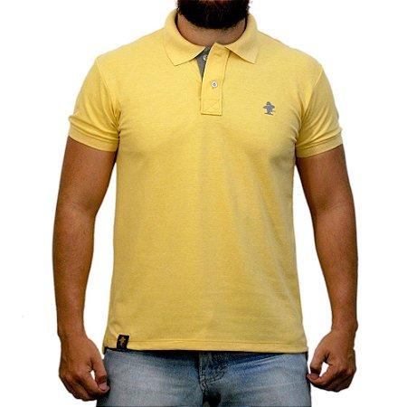 Camiseta Polo Sacudido's - Amarelo e Cinza