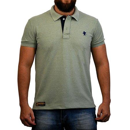 Camiseta Polo Sacudido's - Verde e Azul Marinho