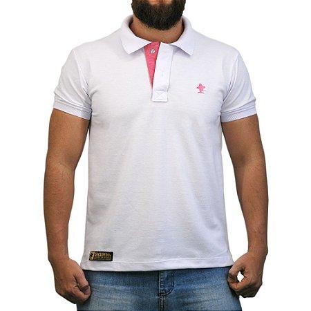 Camiseta Polo Sacudido's - Branca Mescla