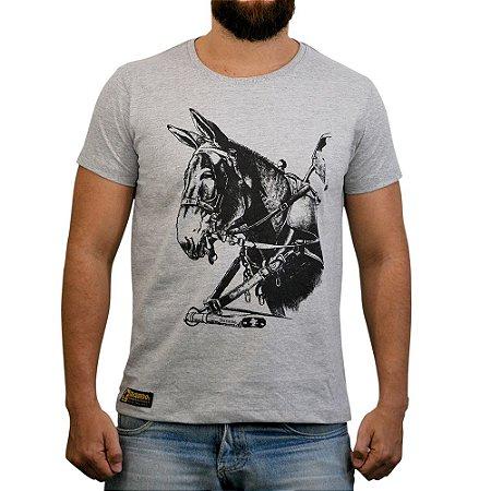 Camiseta Sacudido's - Burro - Cinza Mescla
