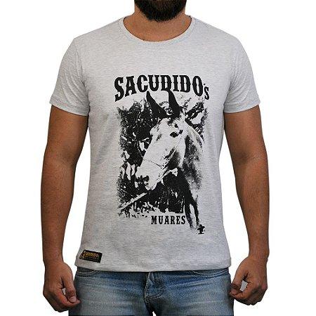 Camiseta Sacudido's - Muares - Cinza Claro Mescla