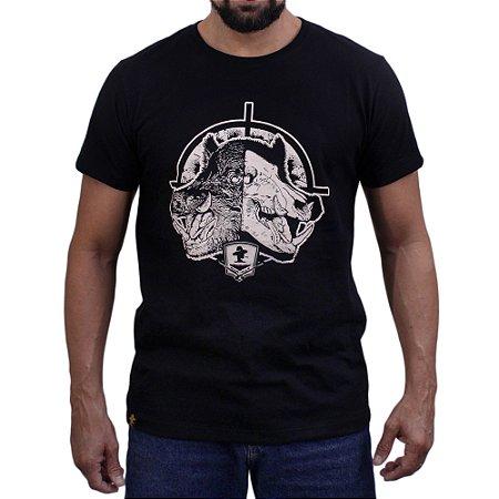 Camiseta Sacudido's - Caçador - Preto