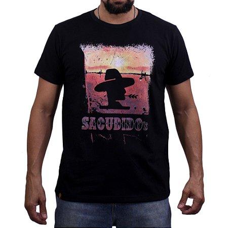 Camiseta Sacudido's Por do Sol - Preto