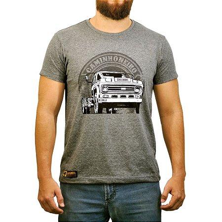 Camiseta Sacudido's - Caminhoneiro - Cinza Escuro