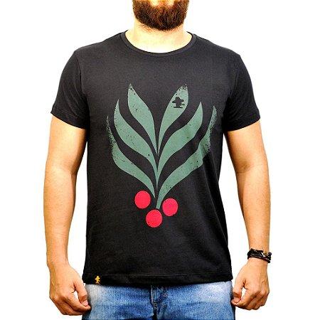 Camiseta Sacudido's - Café - Preta