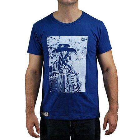 Camiseta Bão Nu Mundo - Sanfoneiro - Azul