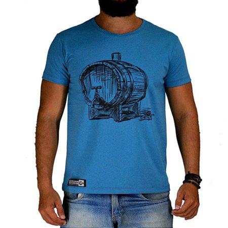 Camiseta Bão Nu Mundo - Tonel de Pinga - Azul Mescla