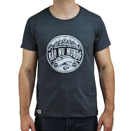Camiseta Bão Nu Mundo - Ramos de Café - Chumbo