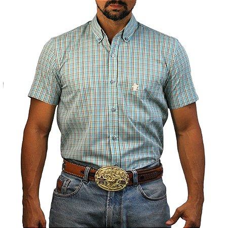 Camisa Manga Curta Sacudido's Xadrez - Verde