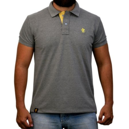 Camiseta Polo Sacudido's - Preta Mescla