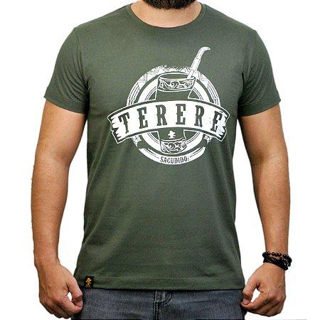 Camiseta Sacudido's - Tereré - Verde Musgo
