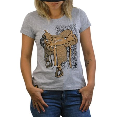 Camiseta Sacudido's Feminina - Sela - Cinza