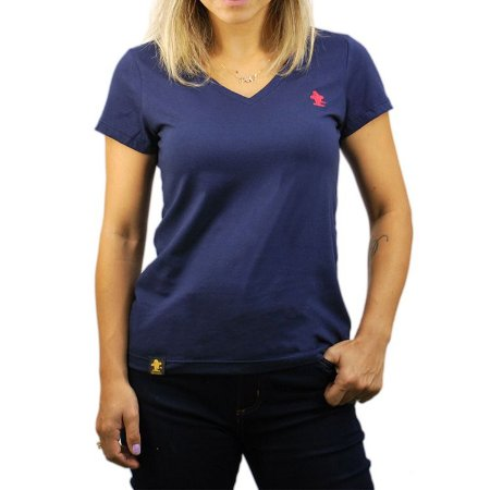 Camiseta Sacudido's Feminina Básica - Marinho