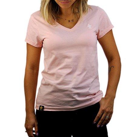 Camiseta Sacudido's Feminina Básica - Rosa