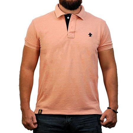 Camiseta Polo Sacudido's - Rose e Preto