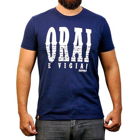 Camiseta Sacudido's - Orai - Azul Marinho