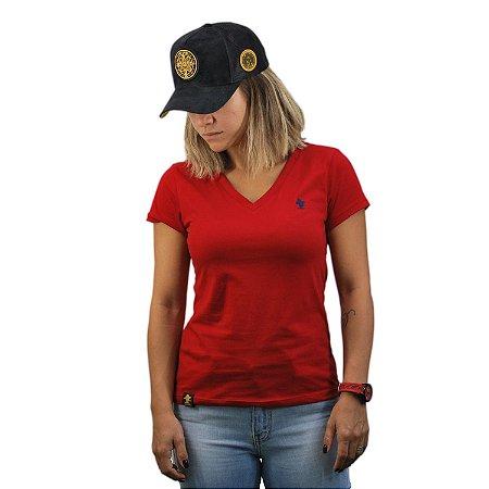Camiseta Sacudido's Feminina Básica - Vermelho