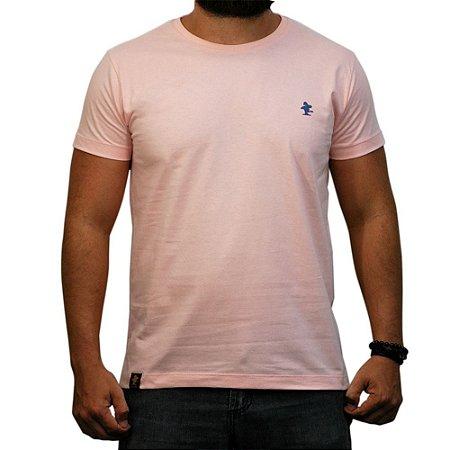 Camiseta Sacudido's - Básica - Rosa / Azul Marinho