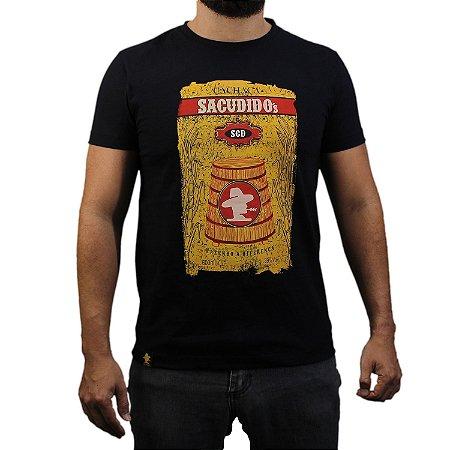 Camiseta Sacudido's - Cachaça - Preto