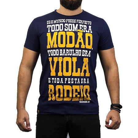 Camiseta Sacudido's - Modão,Viola,Rodeio - Marinho