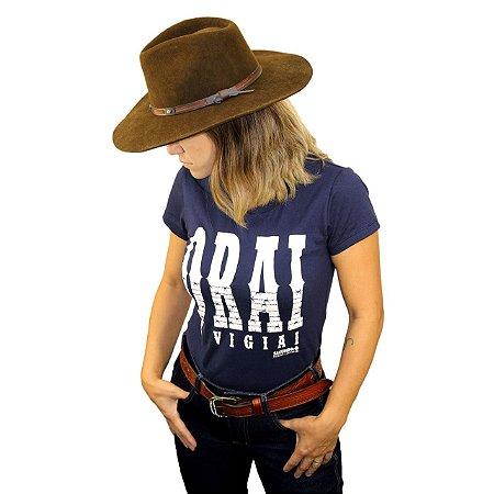Camiseta Sacudido's Feminina - Orai - Azul Marinho