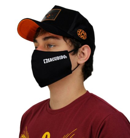 Kit 3 Máscaras Sacudido´s - Etiqueta Lateral - Preta