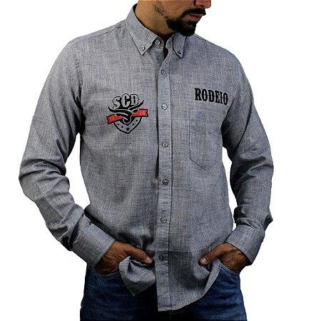 Camisa Manga Longa Sacudido's Rodeio - Chumbo