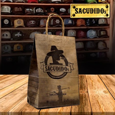 Sacola para embalagem Sacudido's - Parda
