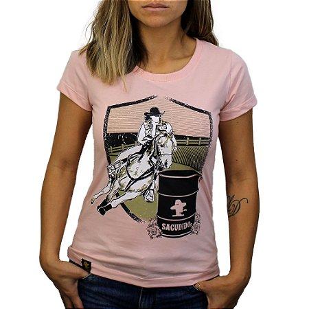 Camiseta Sacudido's Feminina Tambor - Rosa