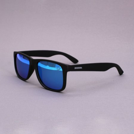 Óculos Sacudido´s - Preto Fosco Liso - Lente Azul