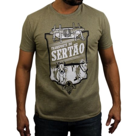 Camiseta Sacudido's - Transporte - Charuto Mescla