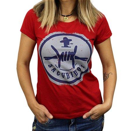 Camiseta Sacudido's Feminina Arame - Vermelho