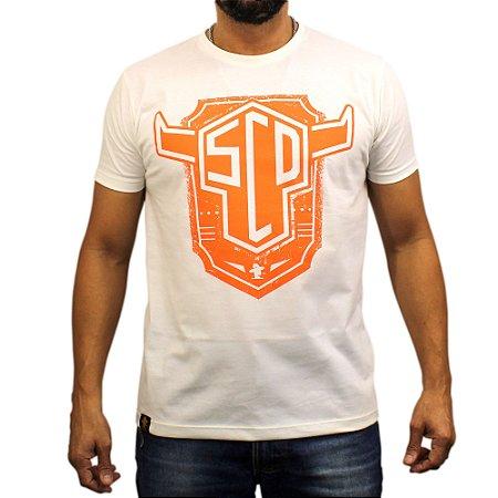 Camiseta Sacudido´s - SCD Laranja - Off White