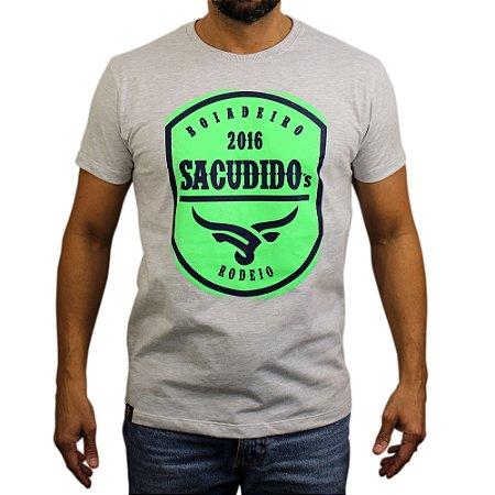 Camiseta Sacudido´s - Rodeio - Cinza / Verde