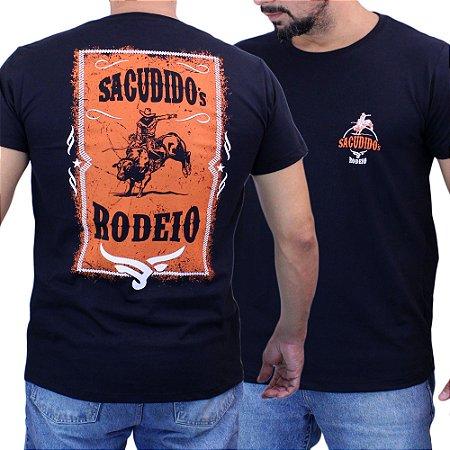 Camiseta Sacudido´s - Rodeio - Preta