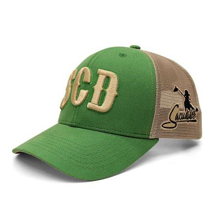 Boné Sacudido's - SCD - Verde / Bege